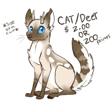 Sketchy Adopt 4: Cat/Deer CLOSED! by Night-Wolf122