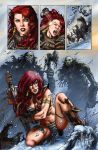 Red Sonja and Trolls by Adrianohq