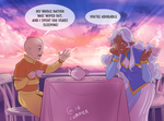 Allura and Aang by Autumn-Sacura