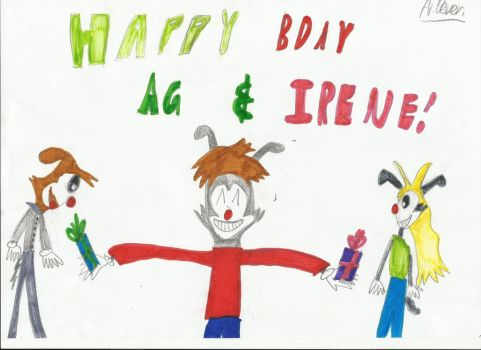 Happy Bday Ag and Irene by WarnerFan14