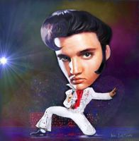 Elvis Presley Caricature by jantheempress