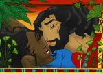 Moses and Tzipporah Colored by BrandonSPilcher