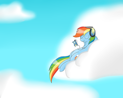 rainbowdash relaxing by Silverfox057
