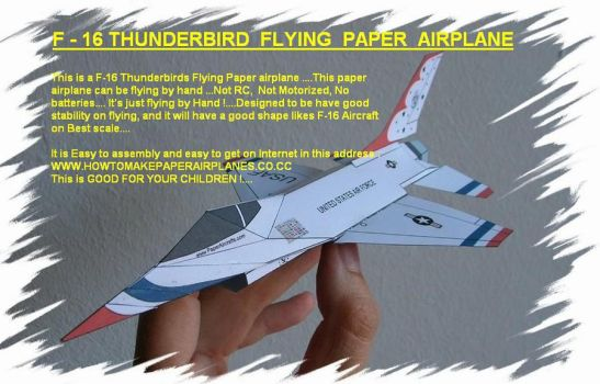 Howtomake f16 paperairplane by aeroorigami