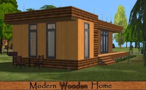 Modern Wooden Home by allison731