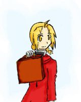 FMA- Ed and Suitcase by tarateme
