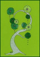 Flower Tree Card II by Caelitha