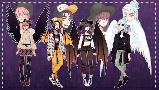 Winged Adopts Auction (closed) by Kariosa-Adopts