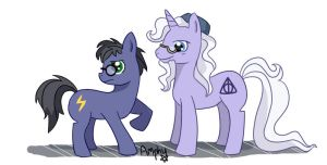 Potter ponies by Amphany