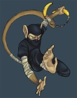 monkey ninja of doom by Loam