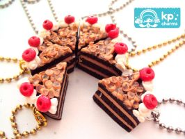 Cute cake in necklaces by KPcharms