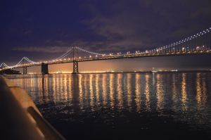 bay bridge at dawn 2 by pacmangeek