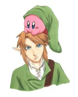 Link and Kirby Colored by Edhelwen-dm
