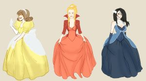-FFVIII gals Disney Version- by Mielz