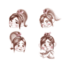 Vanellope - Four Looks For You by artistsncoffeeshops