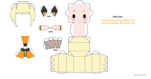 Chibi Usee papercraft ~template~ by snowyMelon