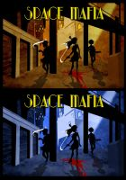 Space Mafia cover concept by poly-m