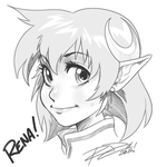 Headsketch: Rena Lanford by Robaato
