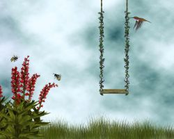 Swingin' in Spring Bg1 by Junk-stock
