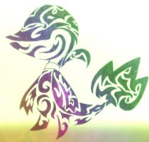 Tribal  Snivy (improved) by Gemini-0601