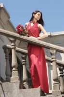 Red Gown and Roses 4 by JasmineBelle