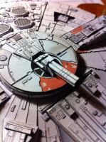 Millenium Falcon Papercraft (WIP4) by Ohnhai