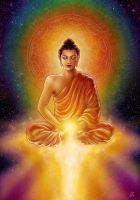 Buddha's Golden Blessing by aeryael