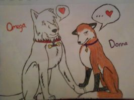 Omega and Donna by bree121149