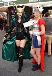 Loki and Thor Cosplay at 2014 Sydney Oz Comic Con by rbompro1