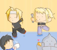FMA: ooooh look at the puppets by elkindragon