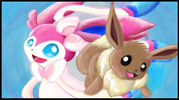 Sylveon and eevee by LeoN88627