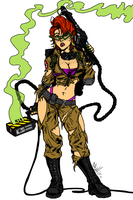Ghostbusters Janine Ink and Color by XinMyForehead