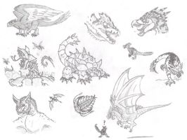 Monster Hunter Concepts by DinoHunter2