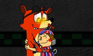 Foxy and BB~Father and Son by FanDusk64