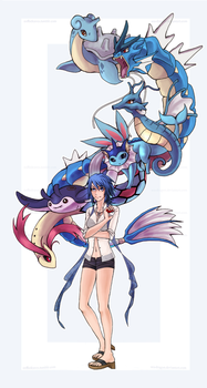 Trainer Aqua Wishes to Battle by Sea-Dragon