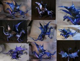 Night Dragon fully poseable dragon doll big by kessan
