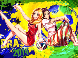 World Cup Girls - Belgium vs Algeria by CherryInTheSun