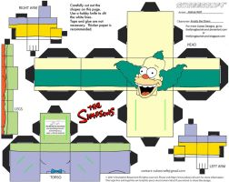 Simpsons2: Krusty the Clown Cubee by TheFlyingDachshund
