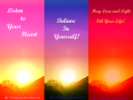 Inspirational Bookmarks (Free to Use!) by TrinitySage