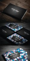 Bubble Style Business Card by vitalyvelygo