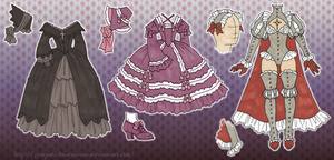 Amelia's Outfits by Michelangeline