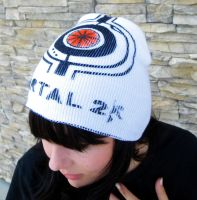 Portal 2 Corrupted Core Headcap Beanie - SPACE by SikkPup