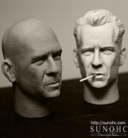 Bruce Willis Die Hard 4 both by sunohc