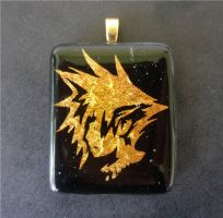 FFVII Cloud In Fused Glass by FusedElegance