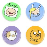FOUR Adventure Time 1 inch/2.54cm Badges by Yeleena