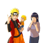 NaruHina Family by steampunkskulls