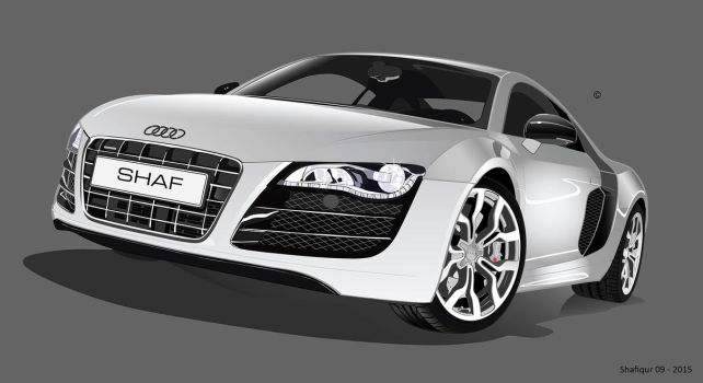 Audi R8 Vectorial Shafiqur by Shafiqur