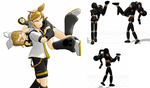 MMD pose: Carrying on the shoulder by AkitaZeo