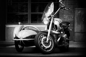 Space Pod on a MotorCycle by DizzyCowPhotography