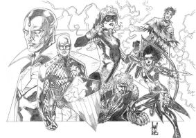 The Young Avengers pencil by Soul-the-Awkward